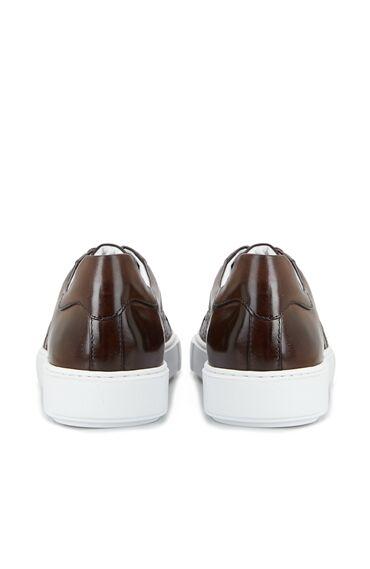 Kahverengi Örgü Dokulu Erkek Ayakkabı
