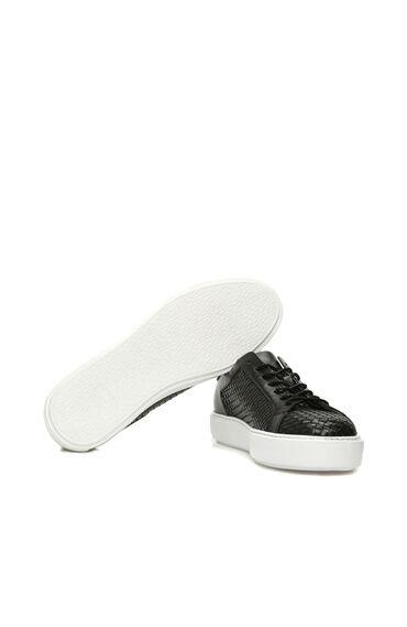Siyah Deri Erkek Sneaker