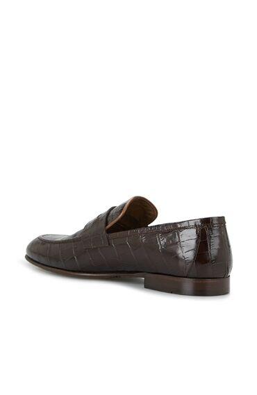 Kahverengi Krokodil Dokulu Erkek Ayakkabı