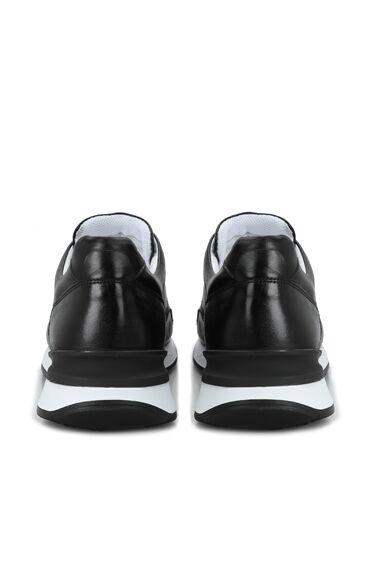 Siyah Erkek Deri Sneaker