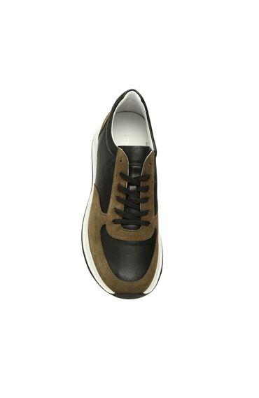 Siyah Haki Süet Erkek Sneaker