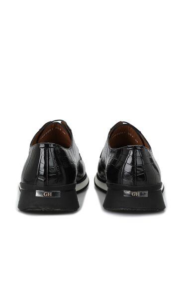 Siyah Krokodil Erkek Deri Ayakkabı