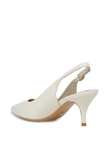 Krem Kadın Topuklu Ayakkabı