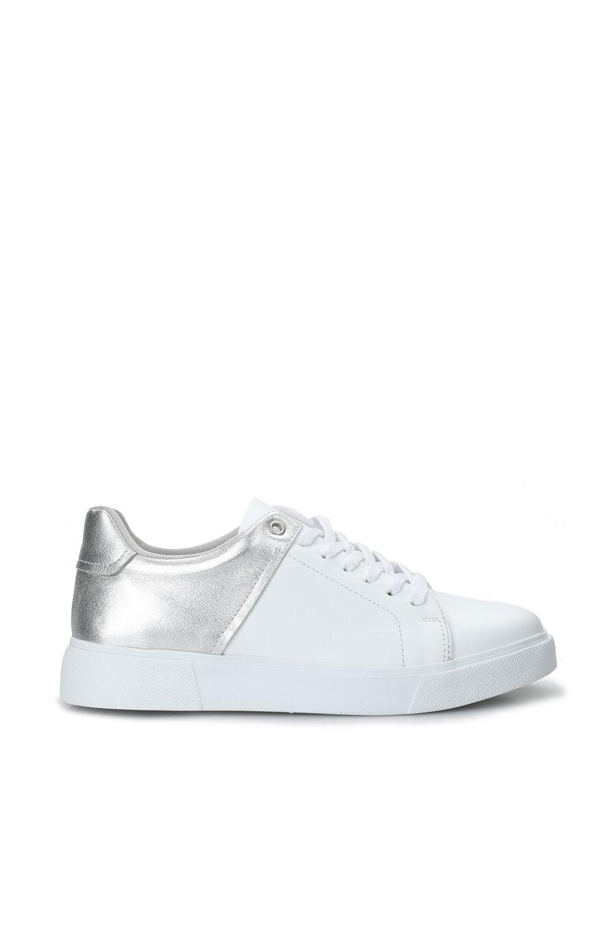Beyaz Silver Kadın Deri Sneaker