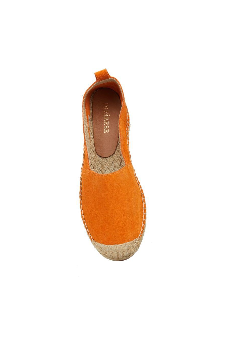 Kadın Turuncu Hasır Tabanlı Ayakkabı