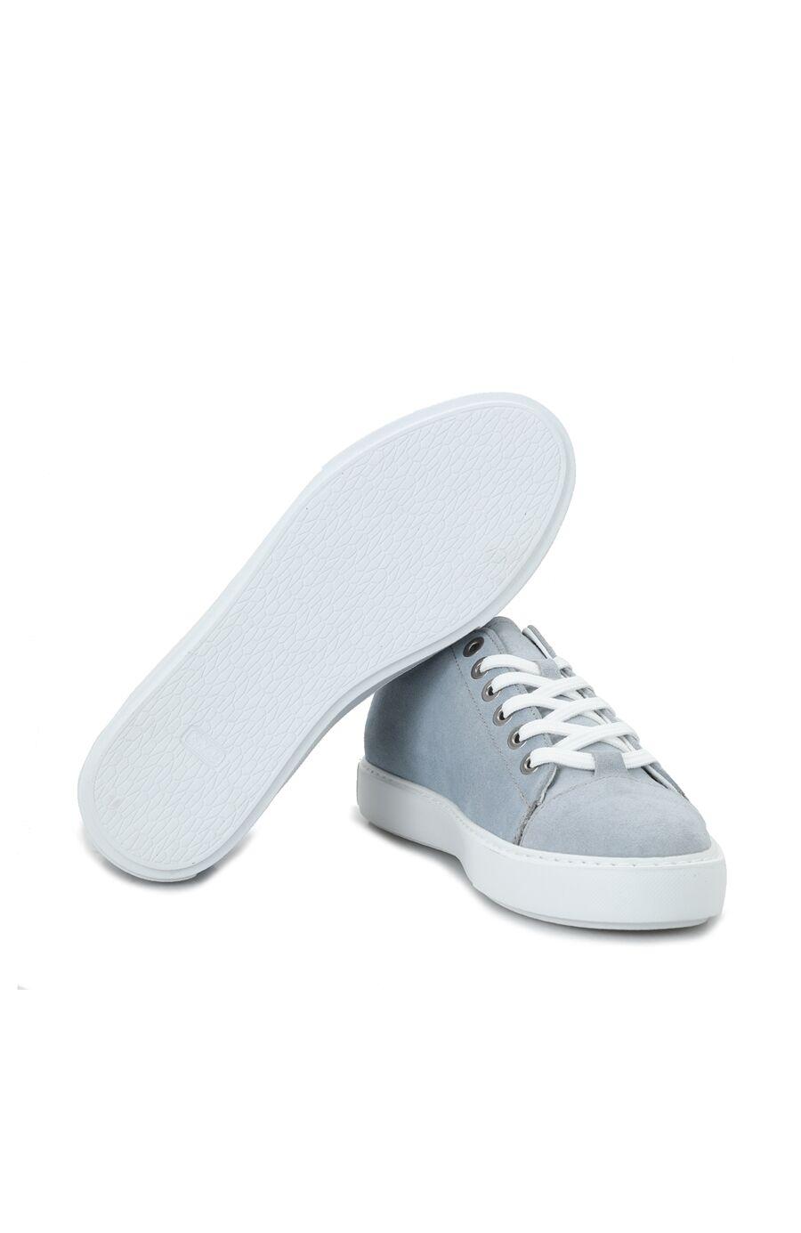 Mavi Eva Tabanlı Kadın Süet Ayakkabı