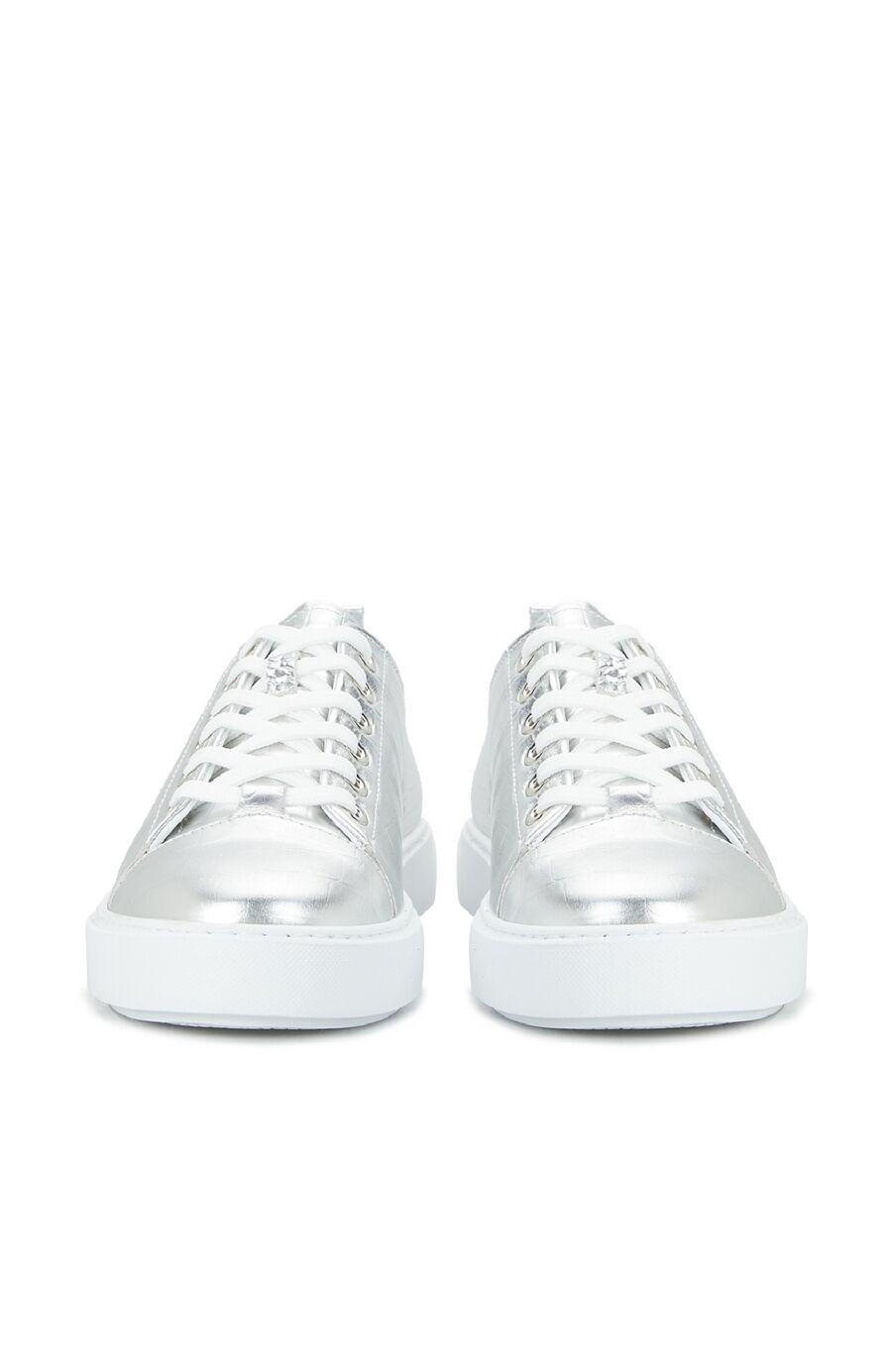 Kadın Silver Krokodil Dokulu Sneaker