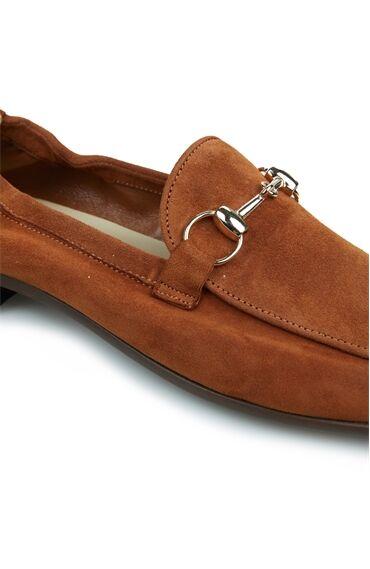 Kadın Taba Metal Tokalı Ayakkabı
