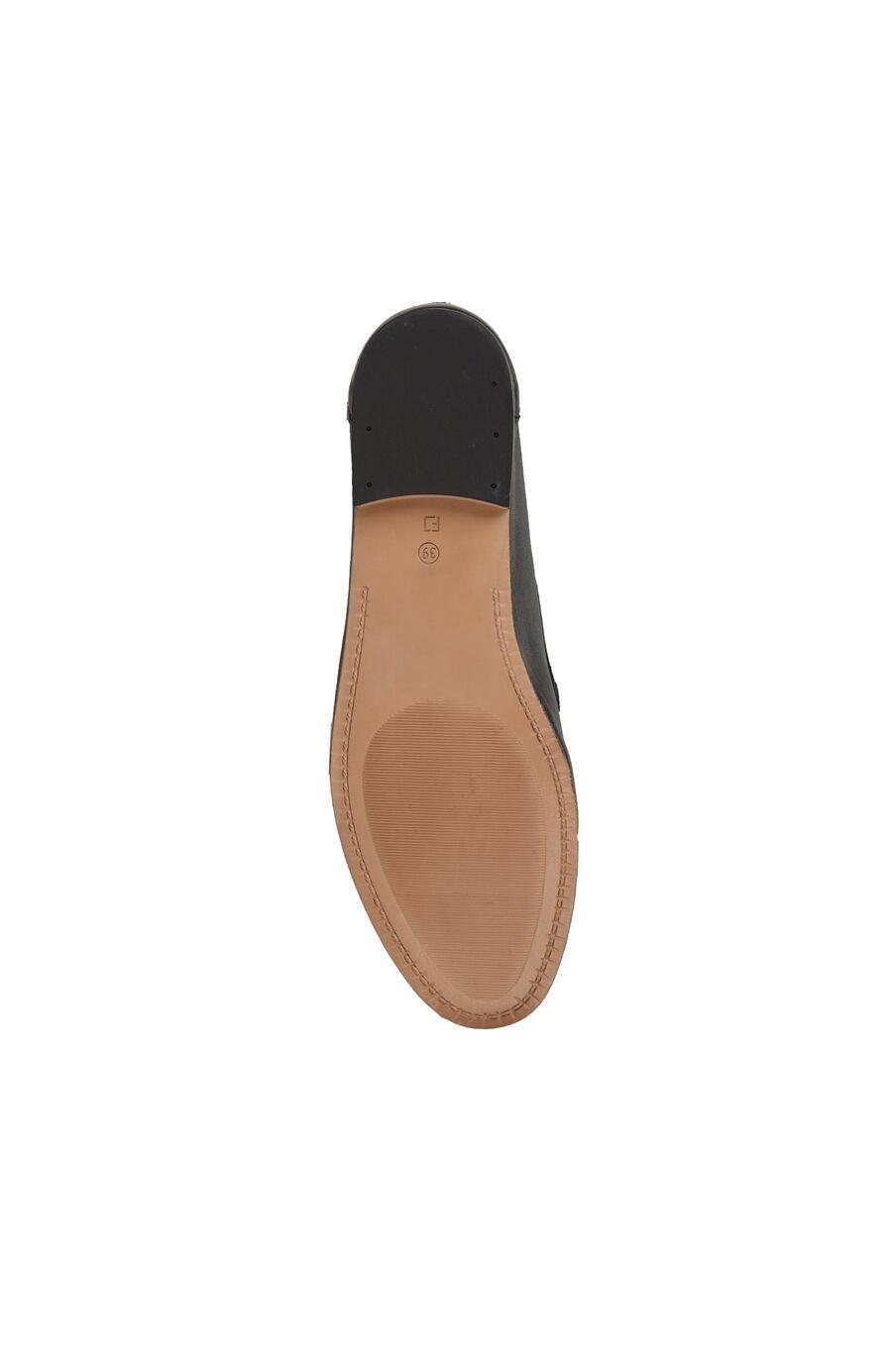 Siyah Zincir Bantlı Kadın Deri Loafer