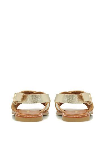 Gold Kadın Deri Sandalet