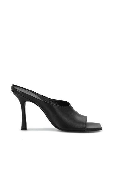 DIVARESE BLACK Siyah Kadın Topuklu Terlik