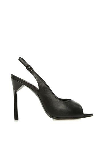 DIVARESE BLACK Siyah Deri Kadın Sandalet