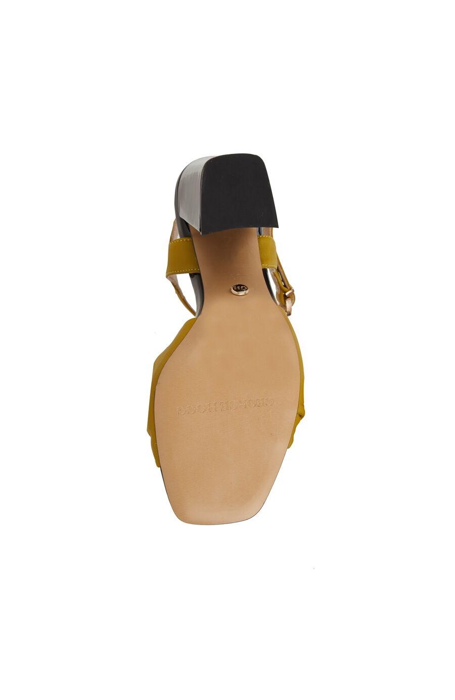 Sarı Düğüm Bantlı Kadın Sandalet