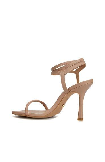 Bej Kadın Deri Sandalet