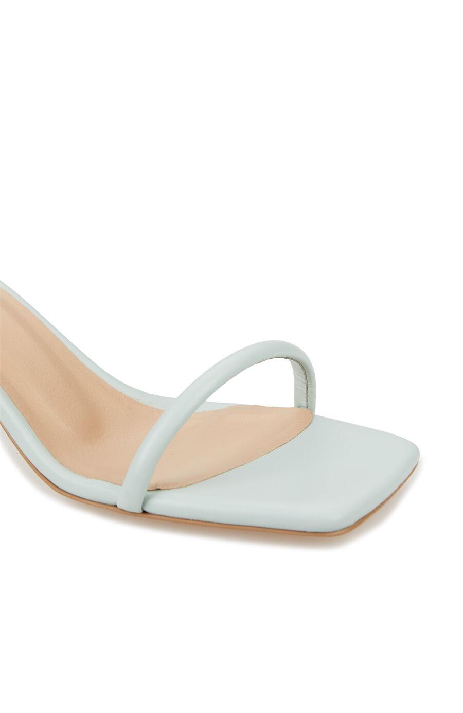 Mavi İnce Bantlı Kadın Sandalet