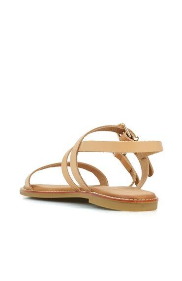 Vizon Kadın Deri Sandalet