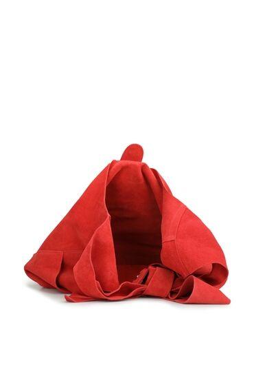 Kırmızı Kadın Süet Omuz Çantası