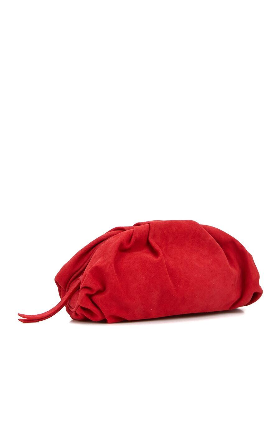 Kırmızı Kadın Süet El Çantası