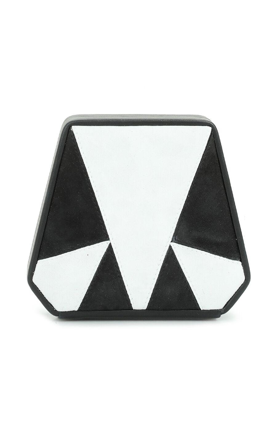Siyah Beyaz Logolu Kadın Deri Omuz Çantası