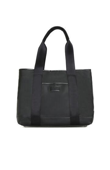 DIVARESE BLACK Kadın Siyah Patch Detaylı Çanta