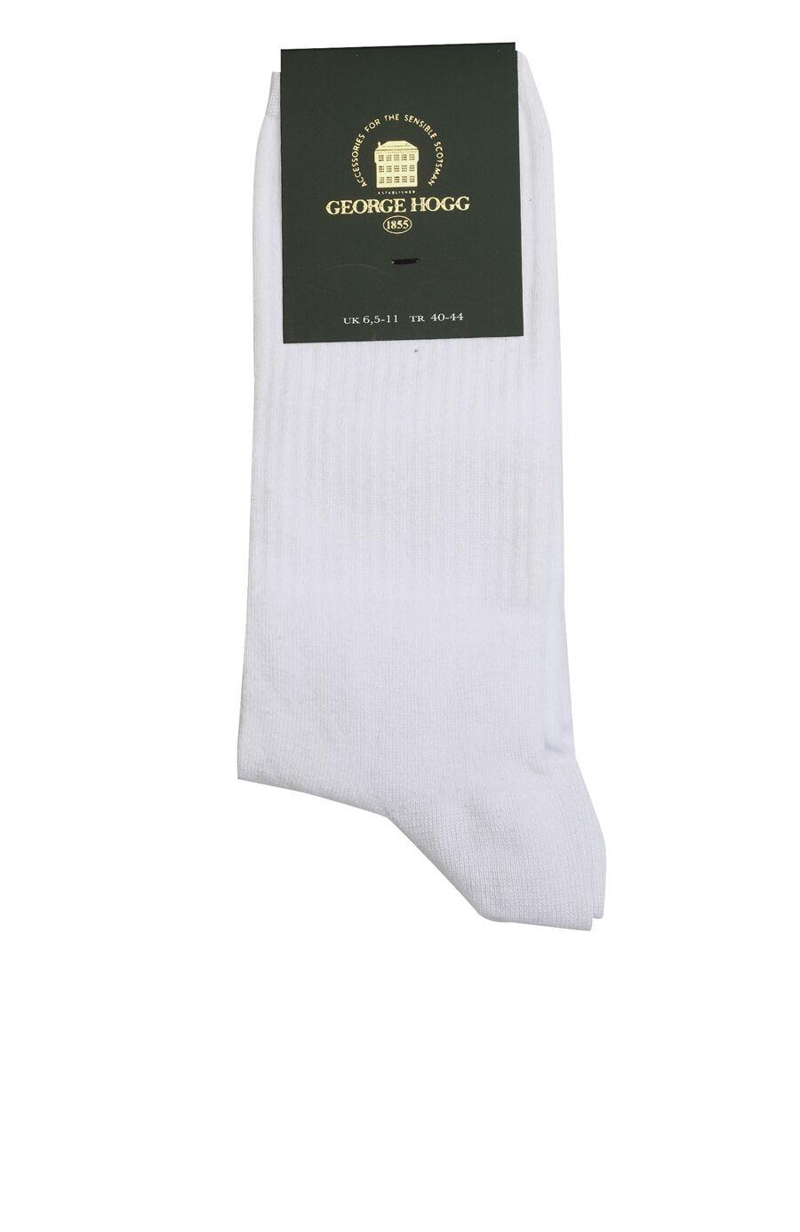 Beyaz Çizgi Dokulu Erkek Çorap