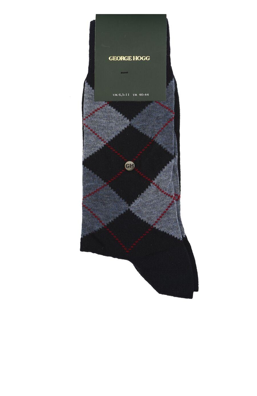Lacivert Baklava Desenli Erkek Çorap