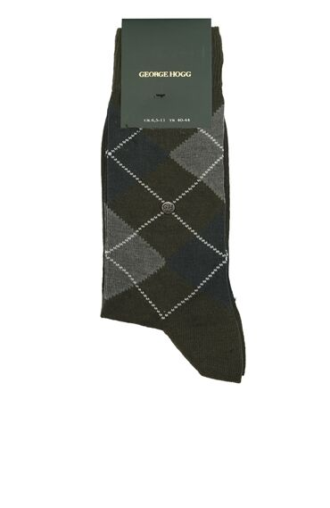 Haki Coton Mix Erkek Çorap