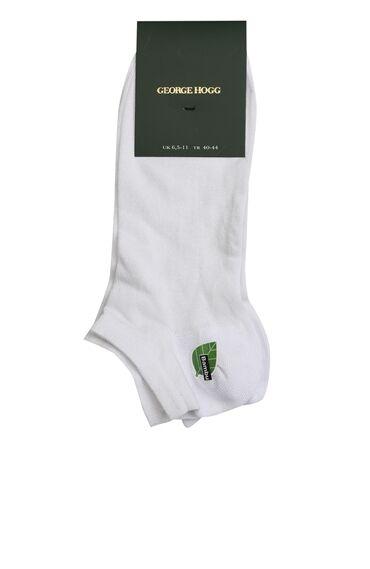 Beyaz Erkek Bambu Çorap