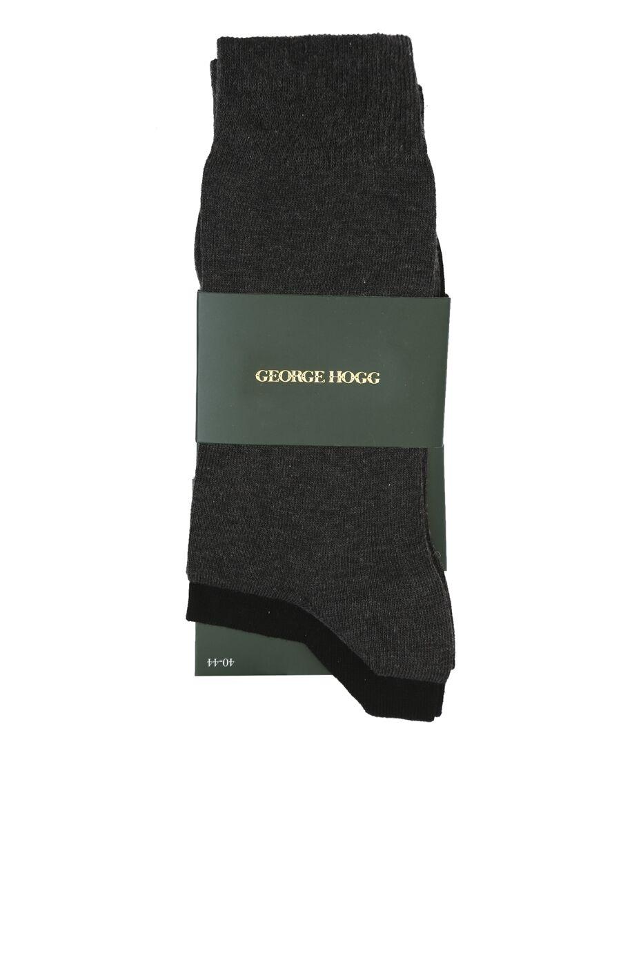 Siyah Gri 2li Erkek Çorap