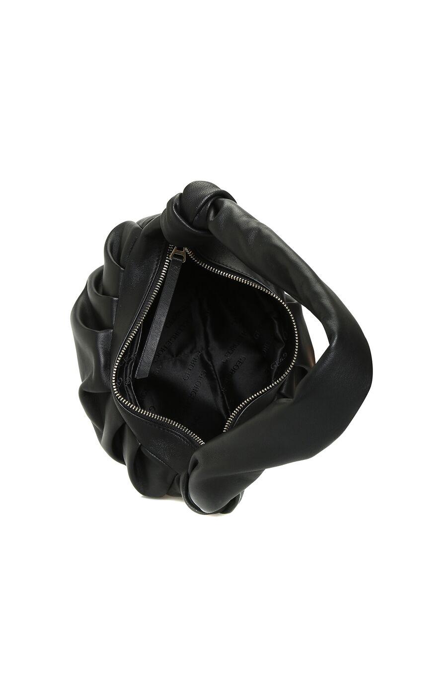 Siyah Drape Detaylı Kadın Omuz Çantası