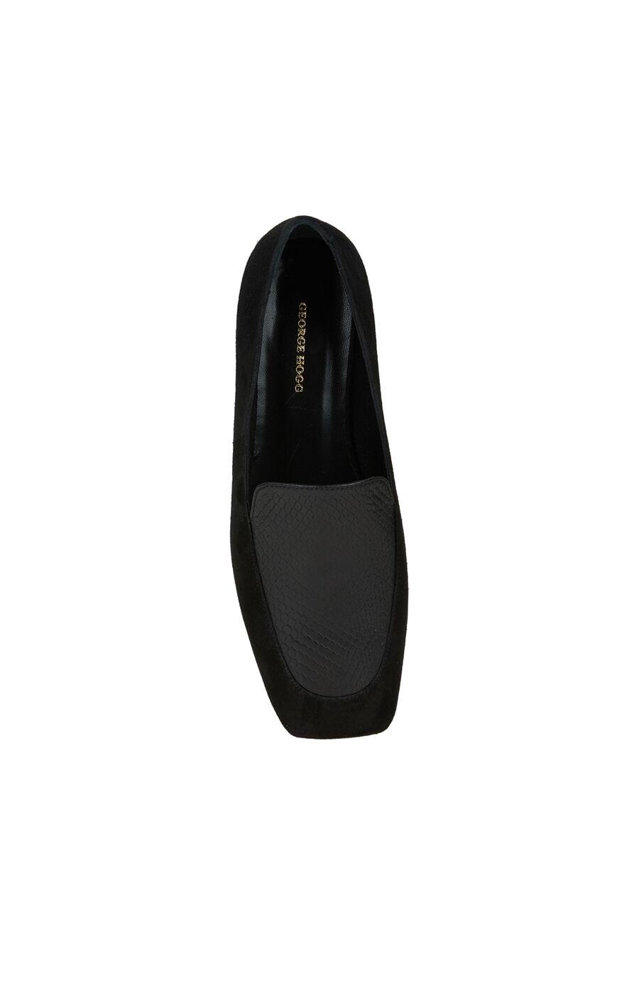 Siyah Kadın Deri Loafer