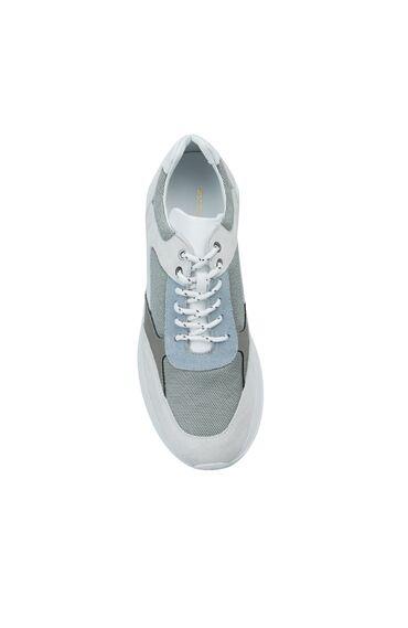 Erkek Beyaz File Doku Detaylı Sneaker