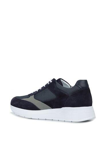 Erkek Lacivert File Doku Detaylı Sneaker