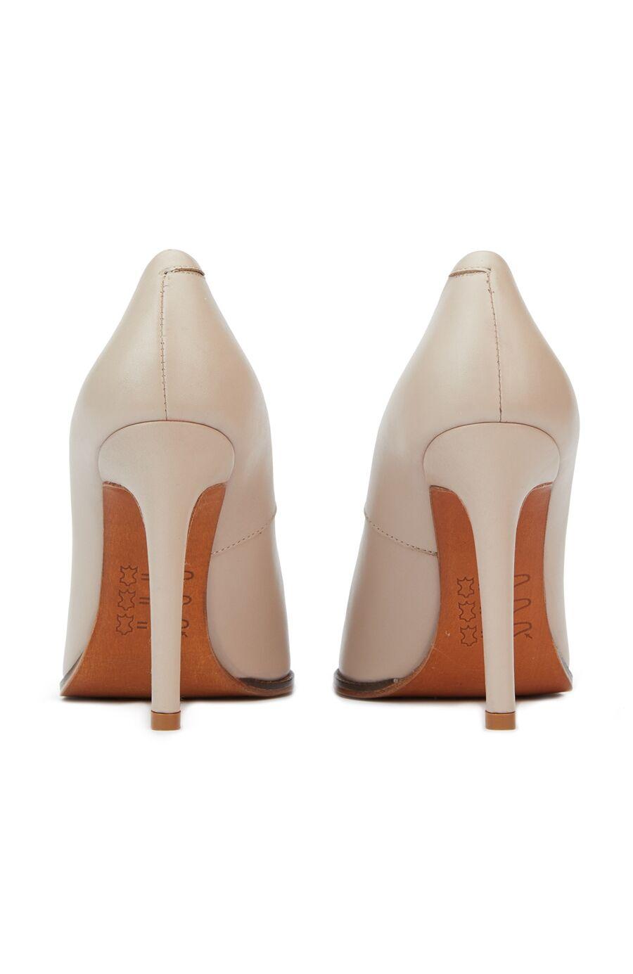 Bej Kadın Deri Gece Ayakkabısı