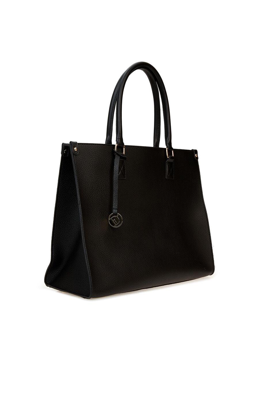 Siyah Logo Detaylı Kadın Çanta