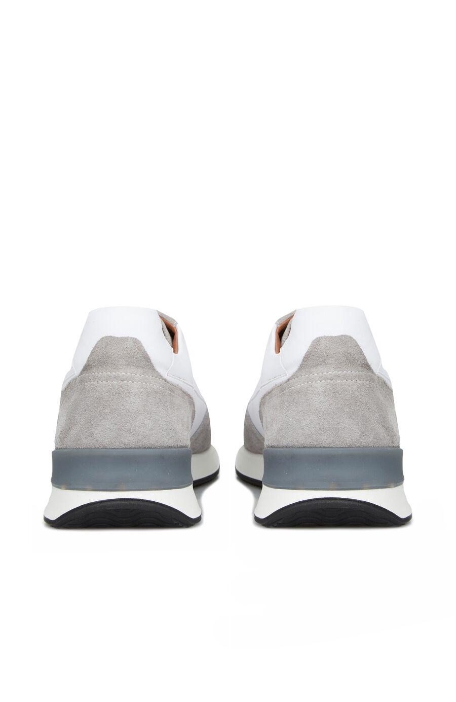 Gri Beyaz Delik Dokulu Erkek Sneaker