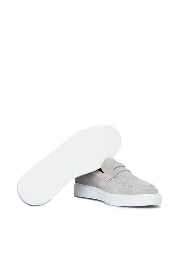 Gri Bant Detaylı Erkek Ayakkabı