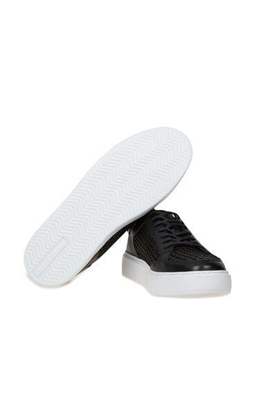 Siyah Doku Detaylı Erkek Sneaker