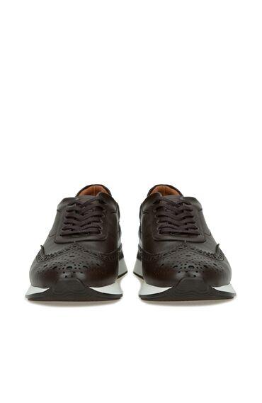 Kahverengi Delik Dokulu Erkek Ayakkabı