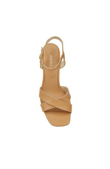 Camel Çapraz Bantlı Kadın Sandalet
