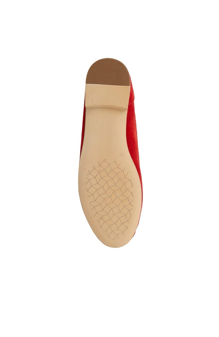 Kırmızı Püskül Detaylı Kadın Süet Loafer