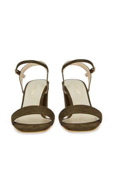 Haki Bantlı Kadın Sandalet