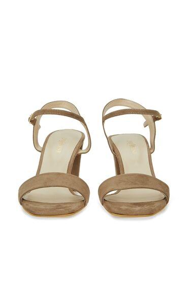 Bej Bantlı Kadın Sandalet
