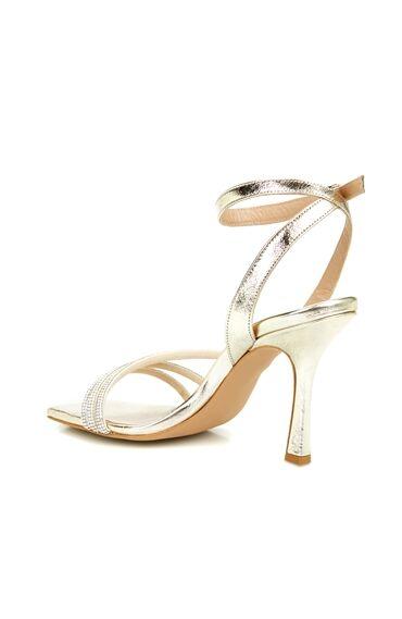 DCEY x Divarese Olivia Altın Rengi Taşlı Sandalet