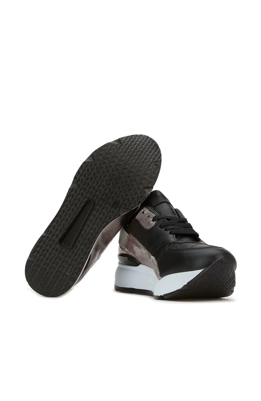 Siyah Gold Logolu Kadın Sneaker