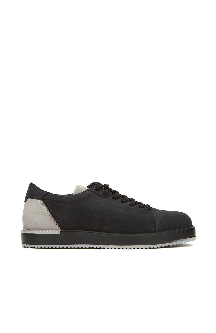 Siyah Gri Erkek Deri Ayakkabı
