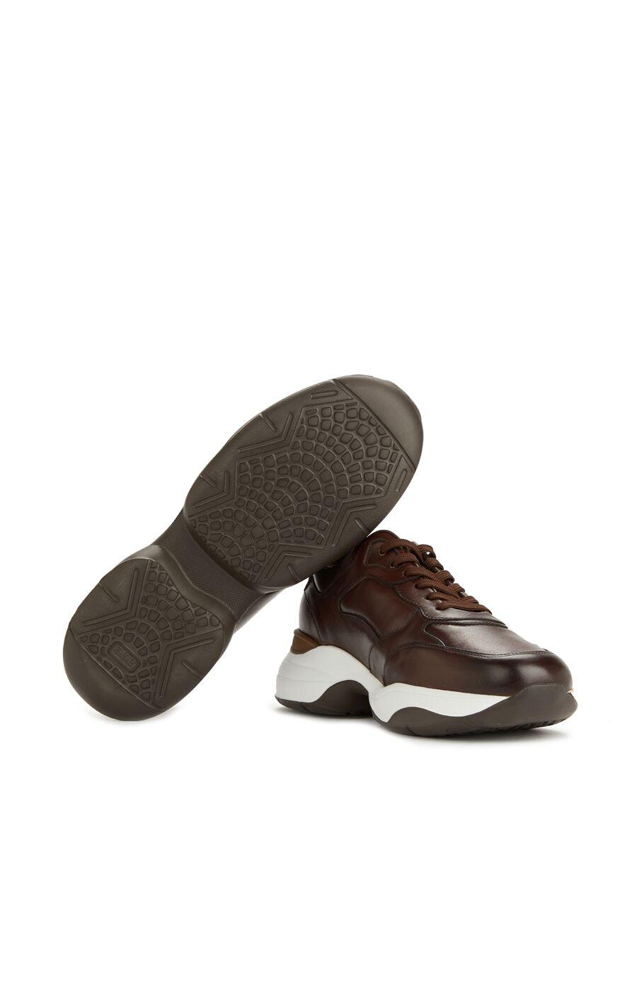 Kahverengi Erkek Deri Sneaker