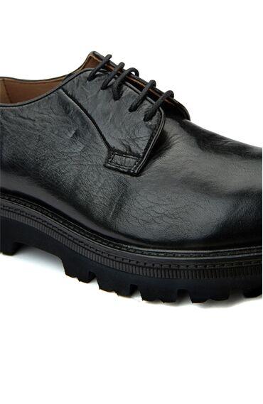 Siyah Dokulu Erkek Ayakkabı