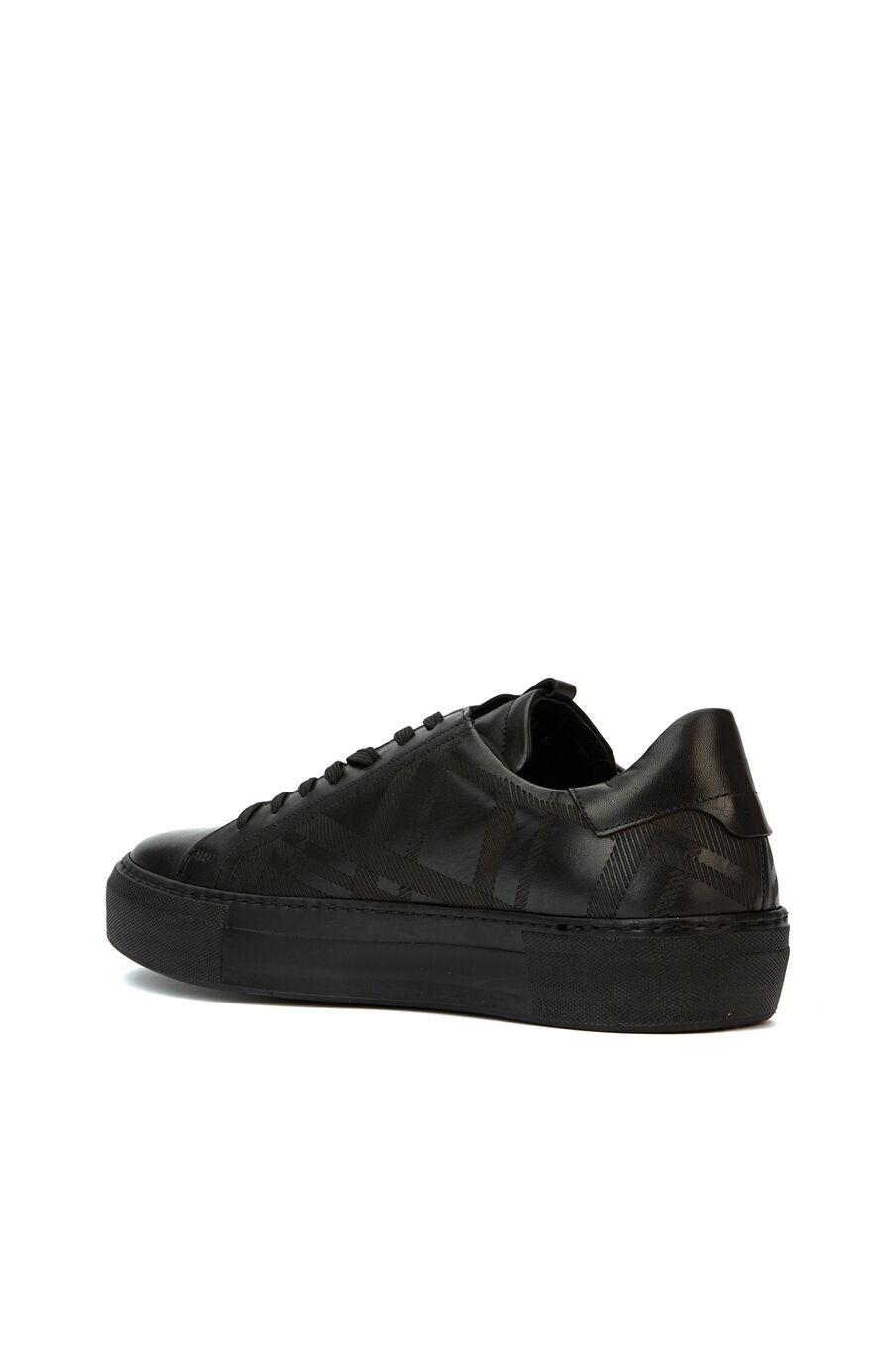 Siyah Desenli Erkek Sneaker