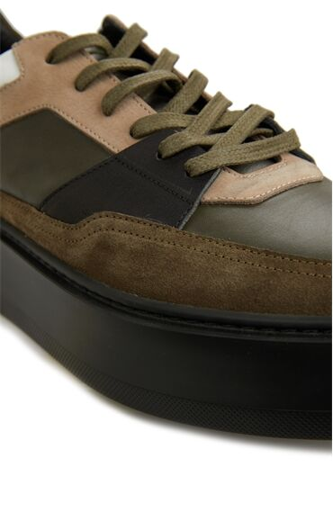 Haki Erkek Deri Ayakkabı